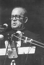 Pfarrer Milch bei der Wiesbadener Rede