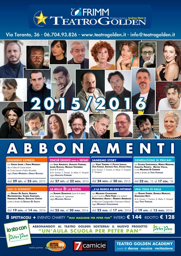 Teatro Golden stagione 2015/2016