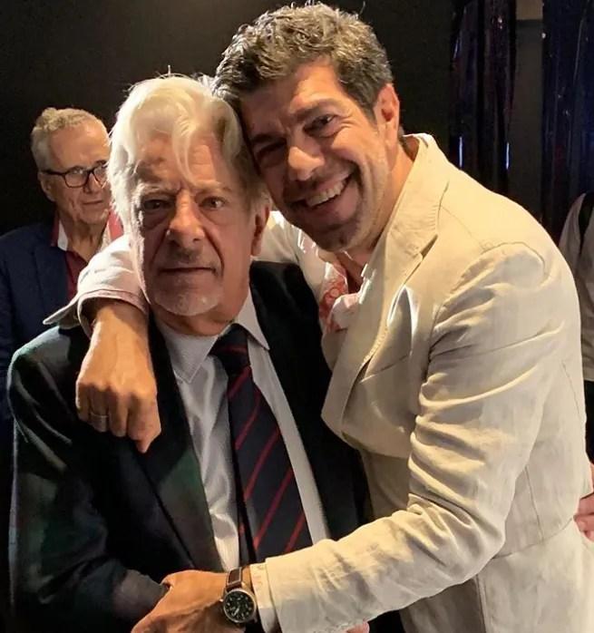 """È il giorno de """"Il Traditore a Cannes 72"""", Pierfrancesco Favino incontra Giancarlo Giannini"""