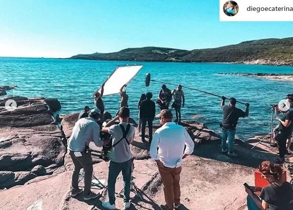 l isola di pietro 3 riprese set