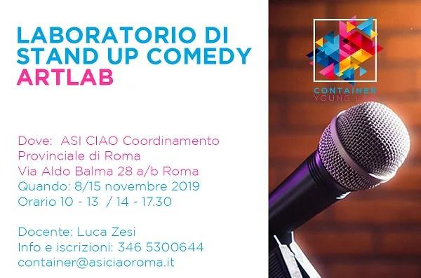 ARTLAB, il laboratorio di scrittura per Stand Up Comedy