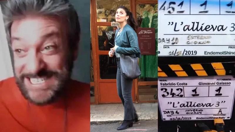 L'Allieva 3 riprese terza settimana negli studi VIDEA, arriva Sergio Assisi in attesa di Lino Guanciale