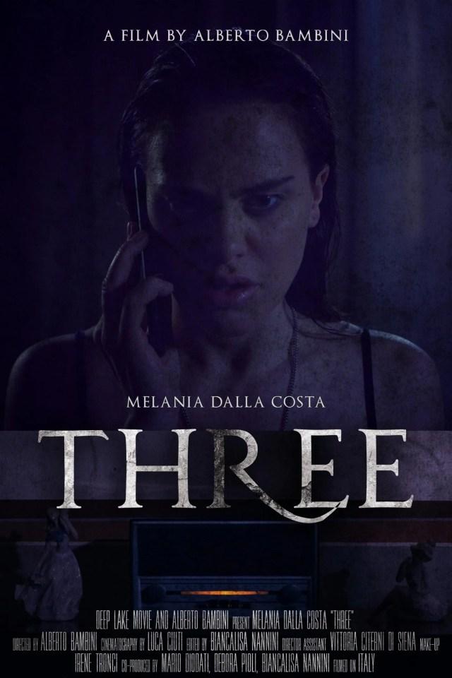 Melania Dalla Costa protagonista di Three il cortometraggio horror di Alberto Bambini