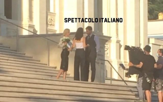 L'Allieva 3 Lino Guanciale e Alessandra Mastronardi sul set
