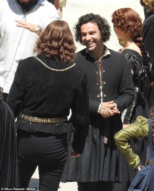 leonardo serie tv cast aidan turner foto dal set tivoli 1