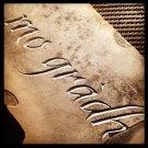 Hand-carved memorial stone gaelic mo grabh, my love