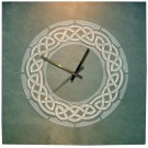 Large celtic round clock in green slate
