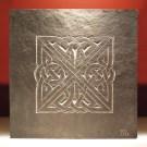 Celtic knotwork carved slate plaque