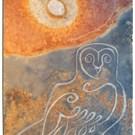 Barn owl at sunrise carved wildlife slate