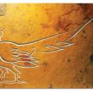 Cock pheasant slate wall panel