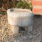 Garden stool carved from beech
