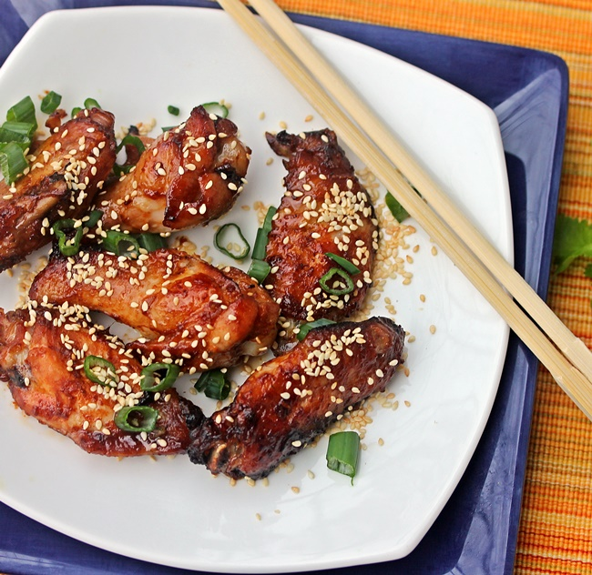 Chicken Wings with Hoisin and Sriracha