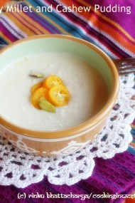 Creamy Millet and Cashew Nut Pudding