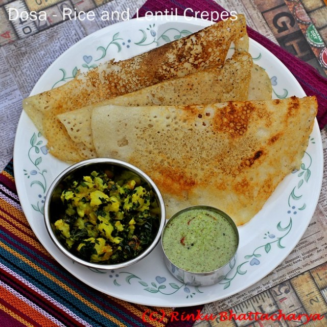 Dosa - Rice and Lentils Crepes