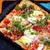 Masala Sheet Pan Egg Pizza
