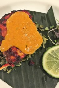 Salmon Tikka with Spinach Rice