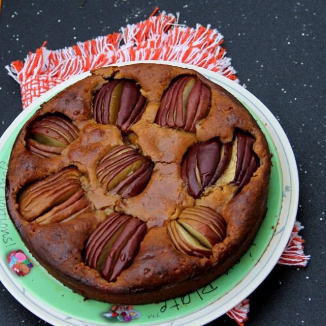 Sunken Apple Honey Cake