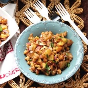 Alu Kabli – Bengali Potato and Chickpea Salad