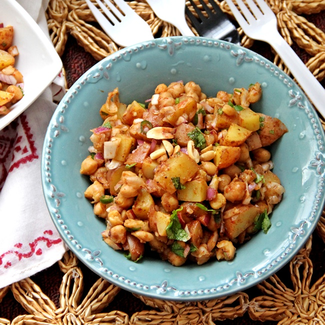 Alu Kabli_Bengali Potato and Chickpea Salad