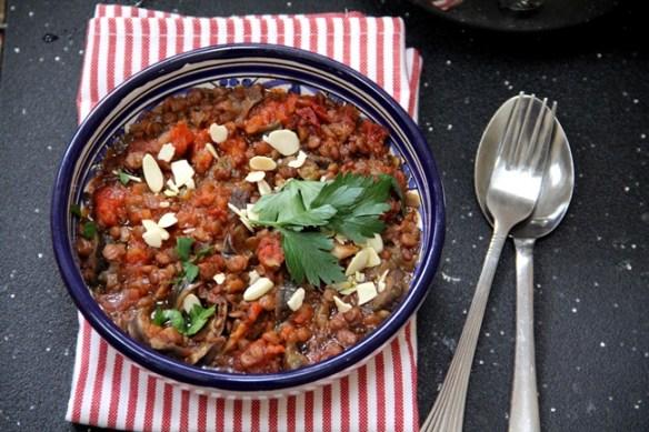 Turkish Lentil and Eggplant Stew