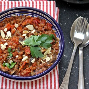 Turkish Lentil and Eggplant Stew