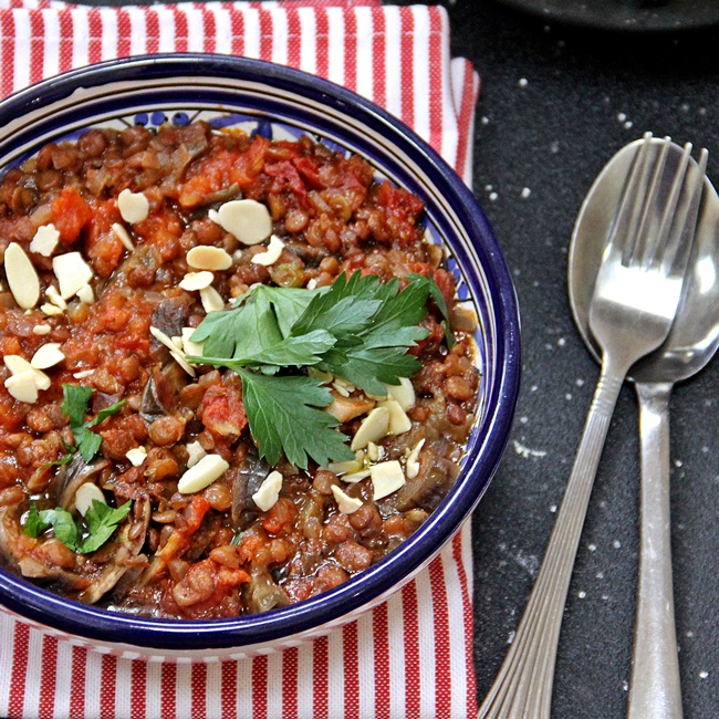 Turkish Eggplant and Lentil Stew