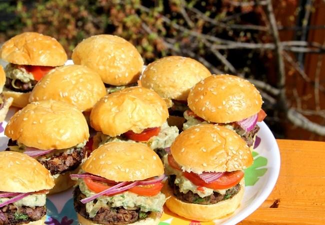 Cilantro Black Bean Burgers