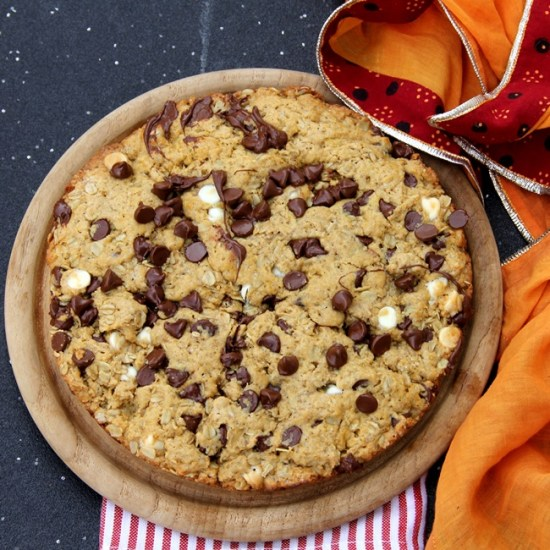 Giant Chocolate Chip Oatmeal Cookie