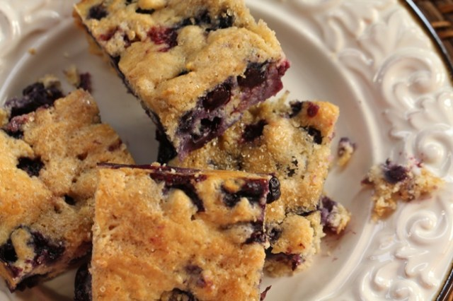 Sheet Pan Blueberry Muffin Squares