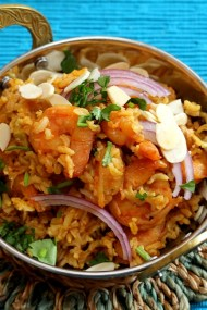 Shrimp Biryani with Brown Rice