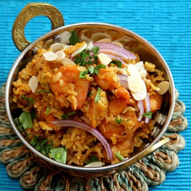 Shrimp Biryani with Brown Rice