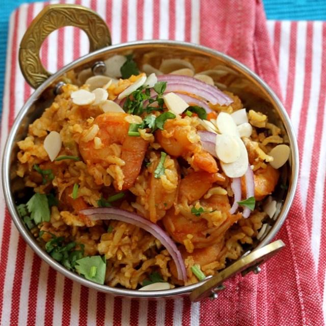 Brown Rice Shrimp Biryani