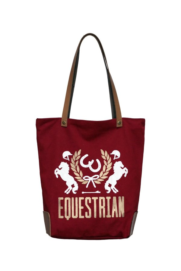 Equestrian Crest Bag Wine