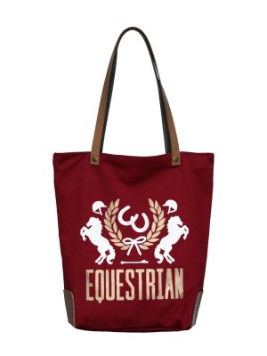 Equestrian Crest Bag Wine