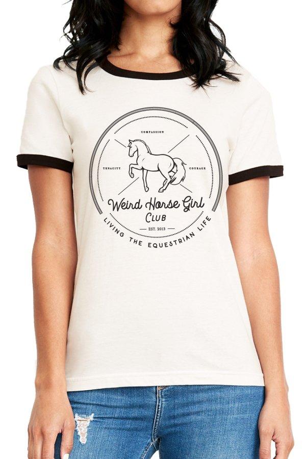 Weird Horse Girl Club Ringer Tee-01-01