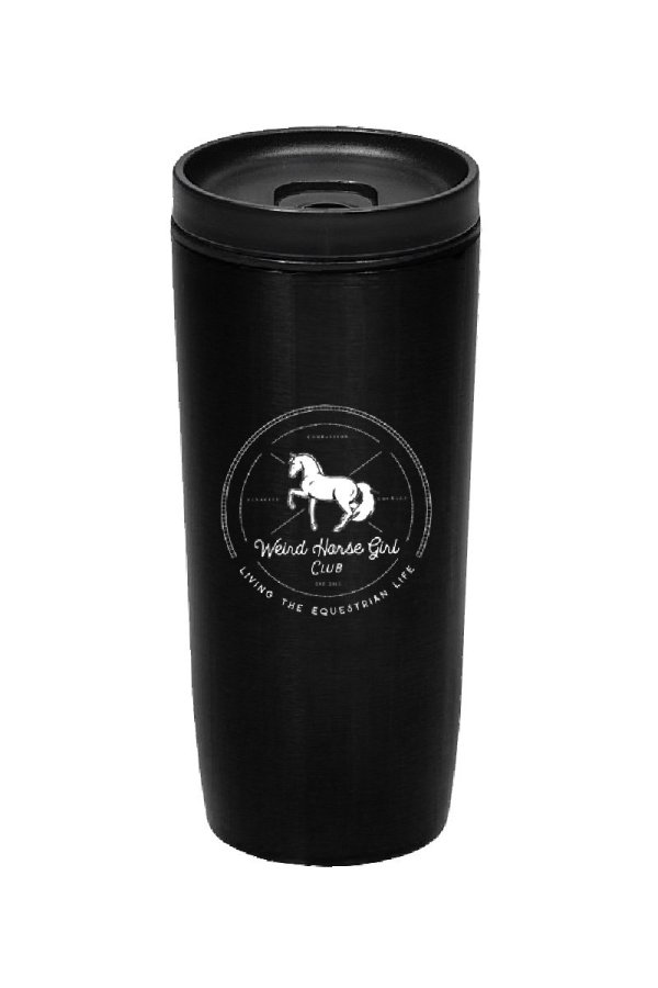 Weird Horse Girl Club Travel Tumbler Mug-01