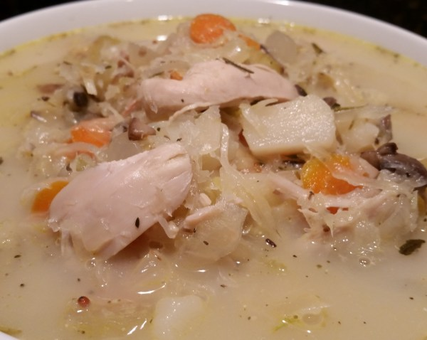 Chicken and Sauerkraut Soup