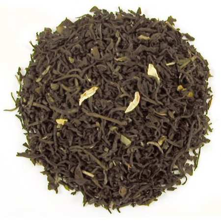 Black tea, Green tea, Oolong tea, Jasmine petals and natural flavors.