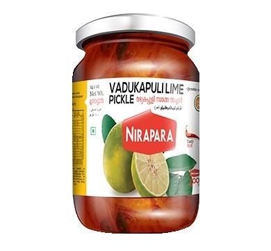 NIRAPARA VADUKAPULI LIME PICKLE 400G