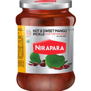 Nirapara Hot & Sweet Mango Pickle 400 gms