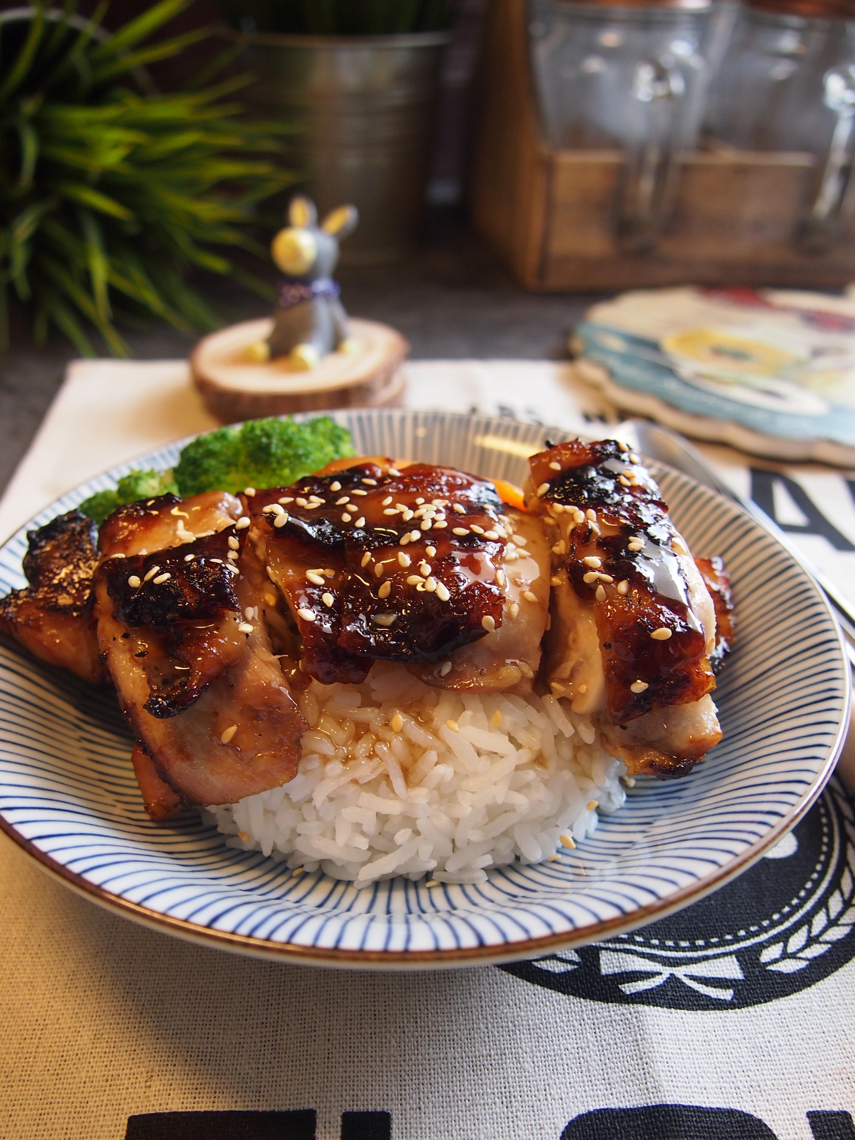 SUPER EASY Air fried Teriyaki Chicken