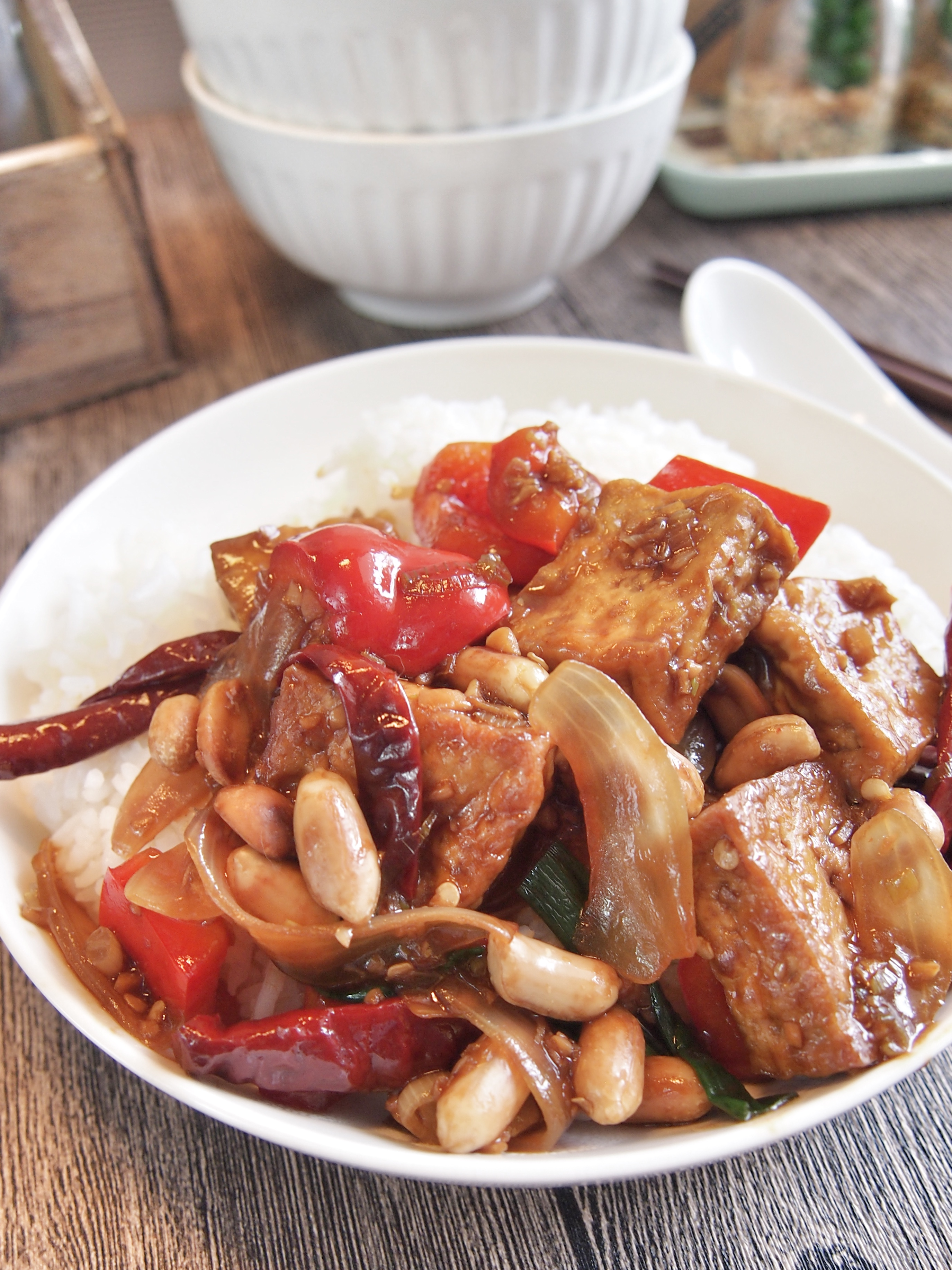 SUPER EASY & YUMMY Kung Pao Tofu 宫保豆腐