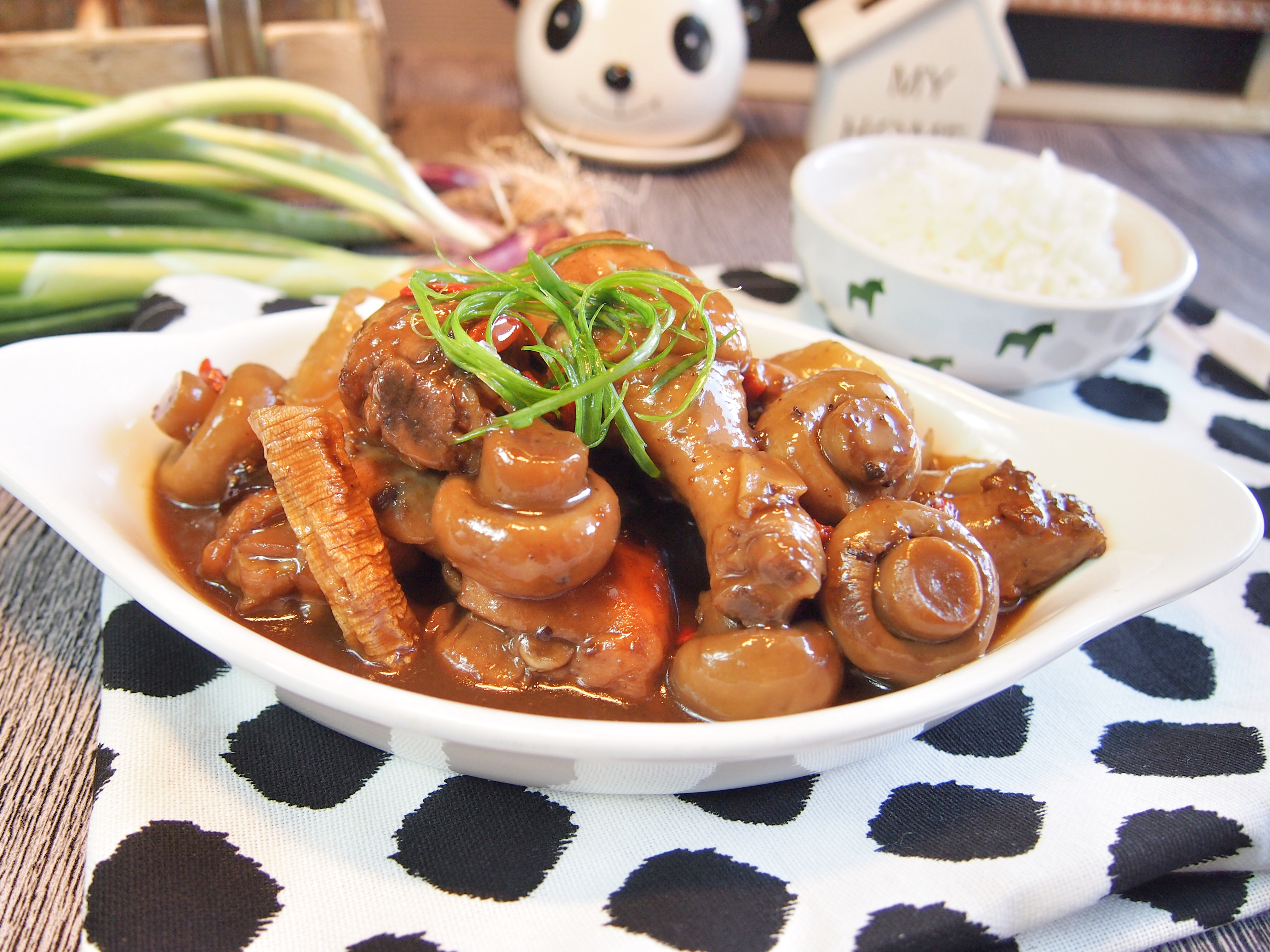 SUPER EASY Braised Herbal Chicken in Yellow Wine 黄酒焖药材鸡