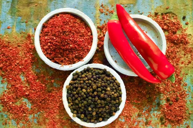 Image result for chili pepper and black pepper