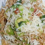 Bacon and Brussels Pasta Carbonara