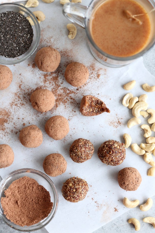 Dirty Chai Cashew Energy Bites