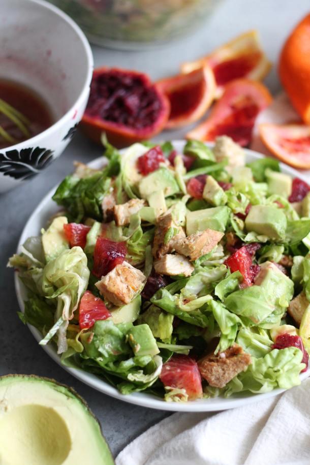 Honey Citrus Chicken, Blood Orange, and Avocado Chopped Salad