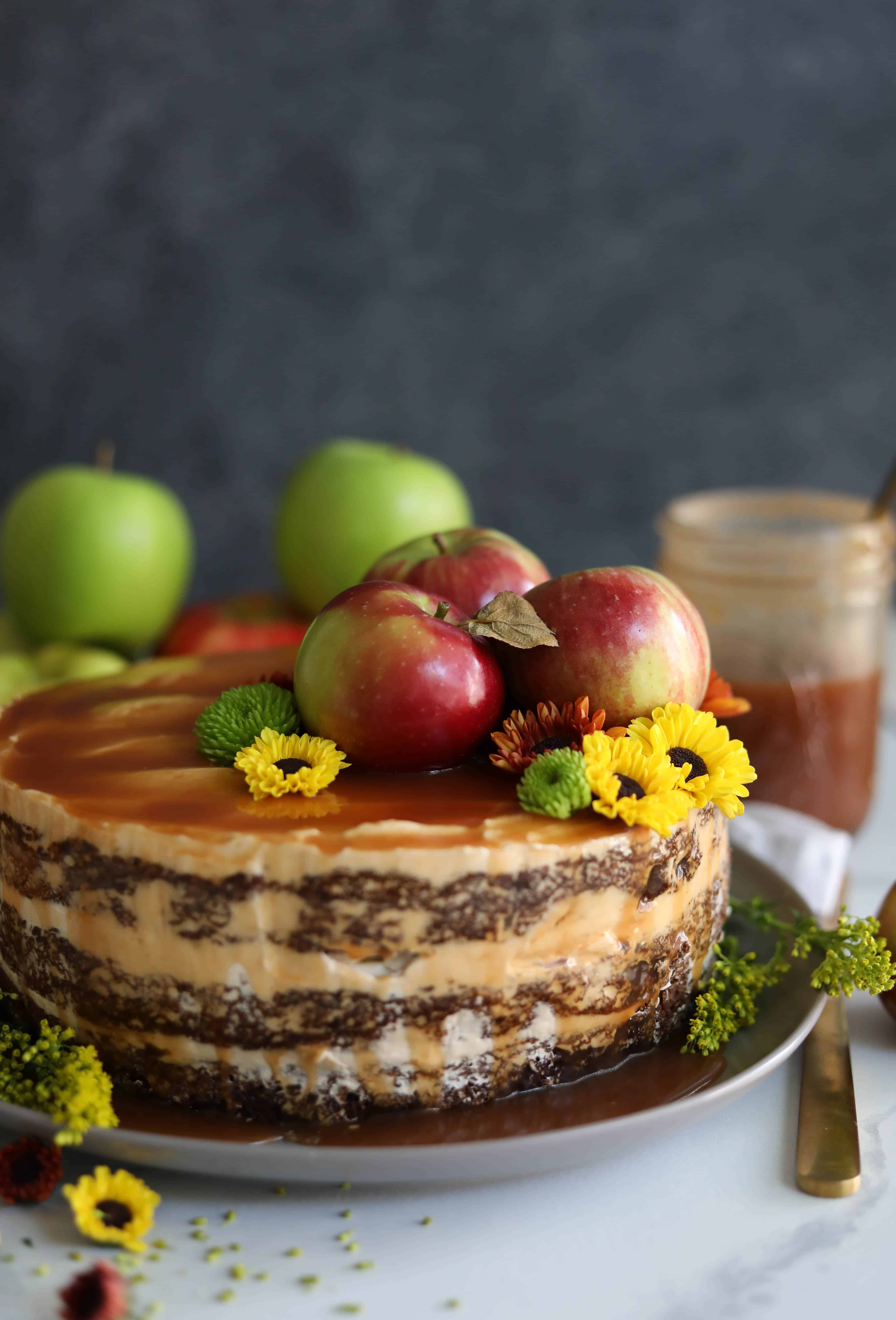 Remarkable Spiced Apple Cake With Brown Sugar Buttercream And Apple Cider Funny Birthday Cards Online Fluifree Goldxyz