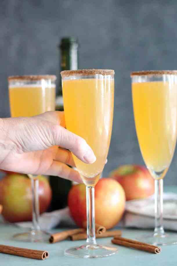 Apple Cider Chai Mimosas