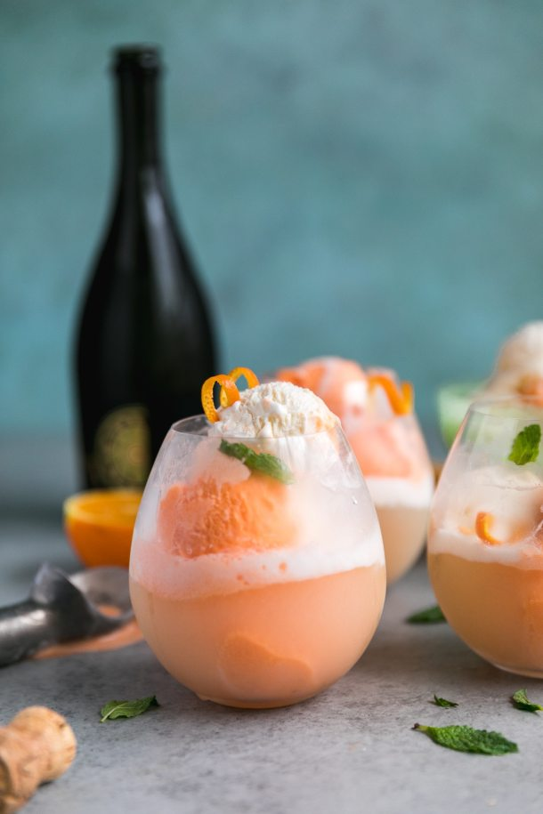 Creamsicle Prosecco Floats